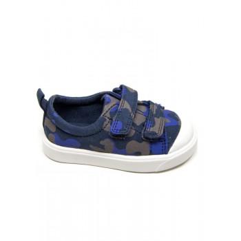 Παιδικό Clarks sneakers πάνινο City Flare Lo T 26142314 μπλε