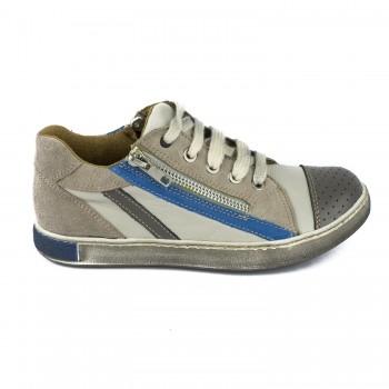 Γκρι δερμάτινο sneaker Harry's 4461M