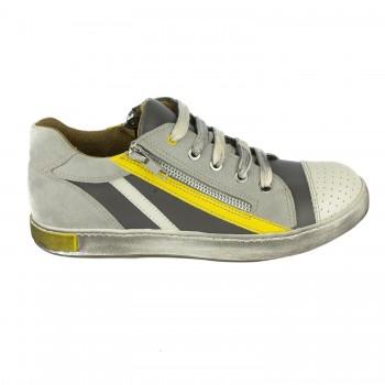 Γκρι δερμάτινο sneaker Harry's 4461K