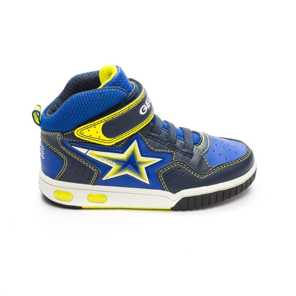 736e446e370 Μπλε αθλητικό μποτάκι Geox J7447A 05411 C0749-funfun