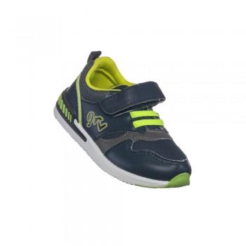 Παιδικό δερμάτινο casual αθλητικό παπούτσι Garvalin 191354 μπλε