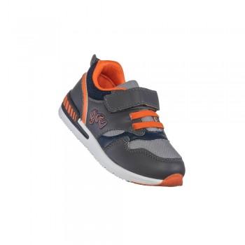 Παιδικό δερμάτινο casual αθλητικό παπούτσι Garvalin 191354 γκρι