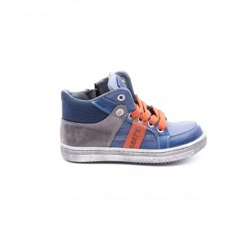 Δερμάτινο μπλε γκρι μποτάκι HARRY S H6701 ... 95325ce2ac0
