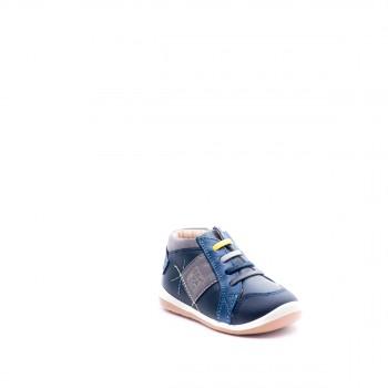 Garvalin μπλε δερμάτινο μποτάκι 161326