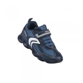 Παιδικό  δερμάτινο αθλητικό Geox J944BA 0CE11 C0700 Μπλε