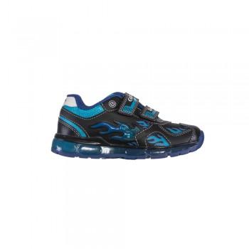 Παιδικό  δερμάτινο αθλητικό Geox J9444C 054CE C0035 Μπλε