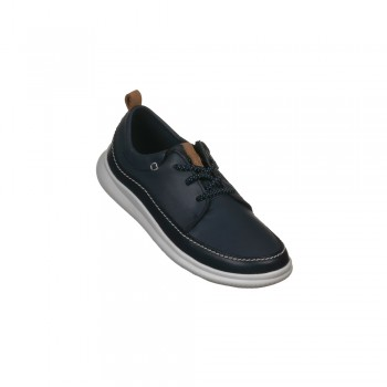 Παιδικό Clarks Cloud Blaze K 26140508 Navy Leather (Μπλε)