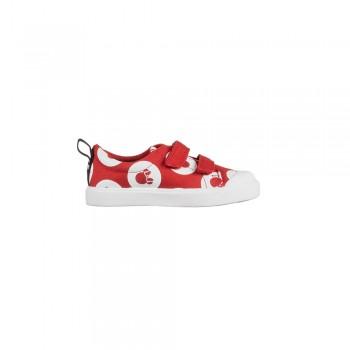 Παιδικό Clarks sneakers πάνινο City PolkaLo T 26142270 κόκκινο