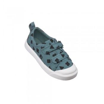 Παιδικό Clarks sneakers πάνινο City Flare T 26141108 Γκρι