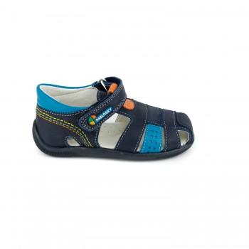 Δερμάτινο μπλε παπουτσοπέδιλο PABLOSKY 001126