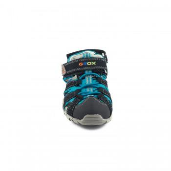 Δερμάτινο μπλε παπουτσοπέδιλο Geox Β5224Α