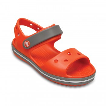 Πορτοκαλί πέδιλο Crocs 12856-818 crocband sandal kids tangerine