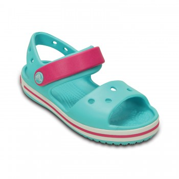 Γαλάζιο πέδιλο Crocs 12856-4FV crocband sandal kids pool