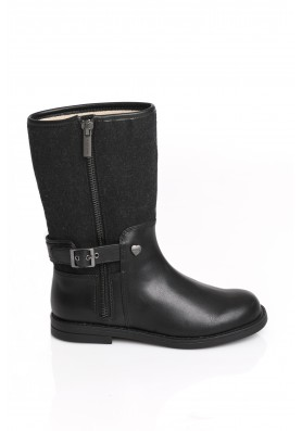Μαύρη δερμάτινη μπότα Mayoral 44743