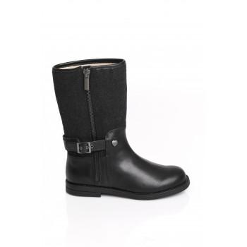 Μαύρη δερμάτινη μπότα Mayoral 17-44743-021