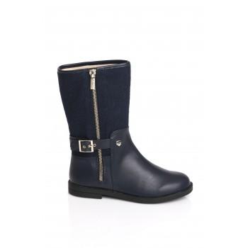 Μπλε δερμάτινη μπότα Mayoral 46743