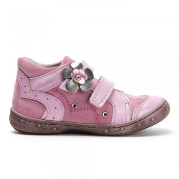 Ροζ δερμάτινο μποτάκι PRIMI PASSI 0661