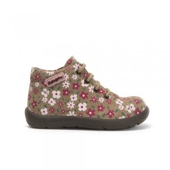 Μπεζ floral μποτάκι Falcotto 9101