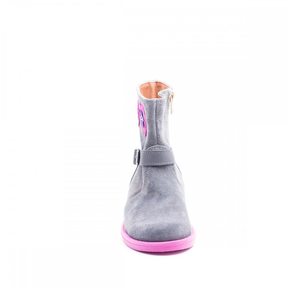 f5390b434fb Παιδικό Παπούτσι - Γκρι καστόρινο μποτάκι ABY661- Καστόρινο μποτάκι ...