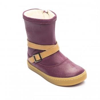 Μπορντό δερμάτινη μπότα Clarks Cute may Fst 26127503