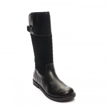 Μαύρη δερμάτινη μπότα Mayoral 48741