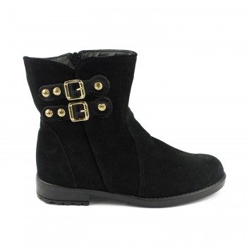 7e983999dc2 Μαύρο suede μποτάκι Aby Shoes Aby770 ...