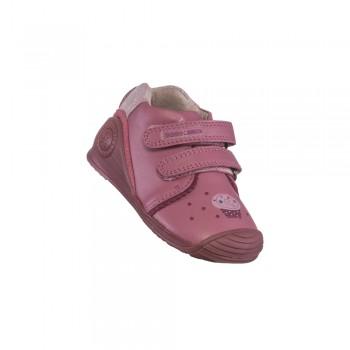 Παιδικό δερμάτινο μποτάκι Biomecanics 191131 ροζ
