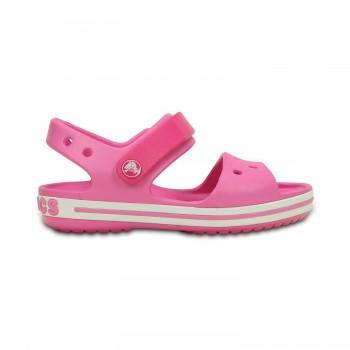 Φούξια πέδιλο Crocs 12856-6LR crocband sandal kids candy pink