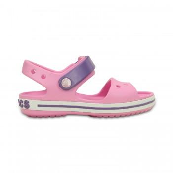 Ροζ πέδιλο Crocs 12856-6ML crocband sandal kids carnation