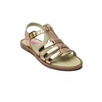 Χρυσό πέδιλο Aby Shoes 762